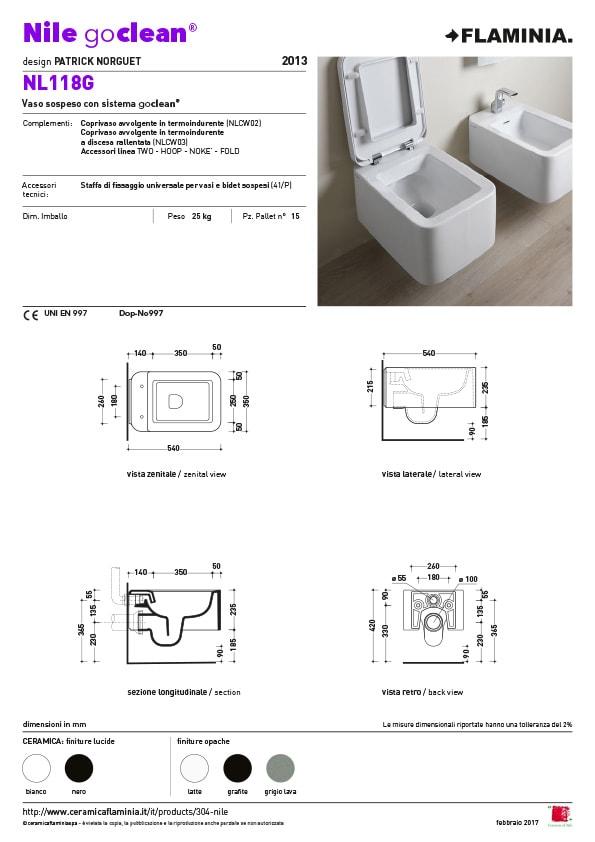 Nile goclean toilet maatvoering