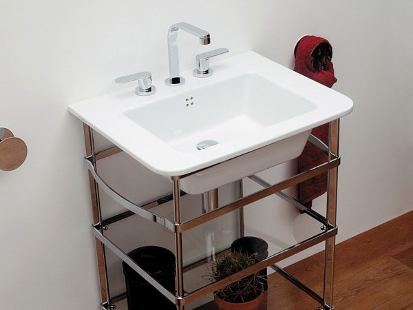 Volo Console glans witte wastafel