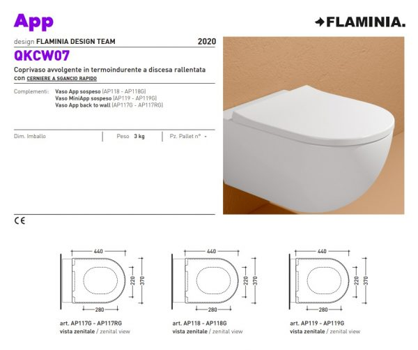 App QKCW07 toiletzitting dik